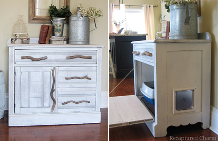 fake cabinet for litter box