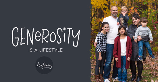 """""""Generosity is a Lifestyle"""" - Shawn Hennessey"""