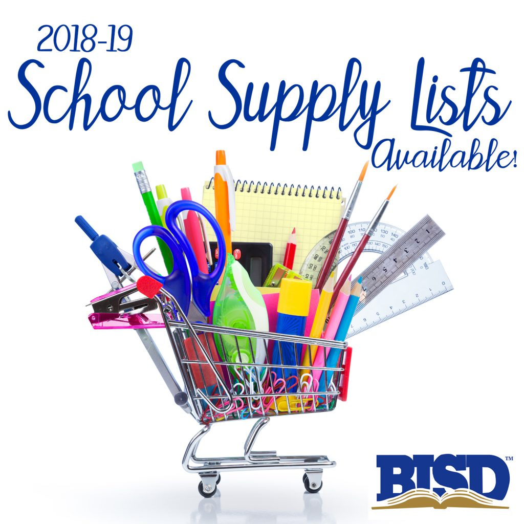 2018-19 School Supply Lists Available