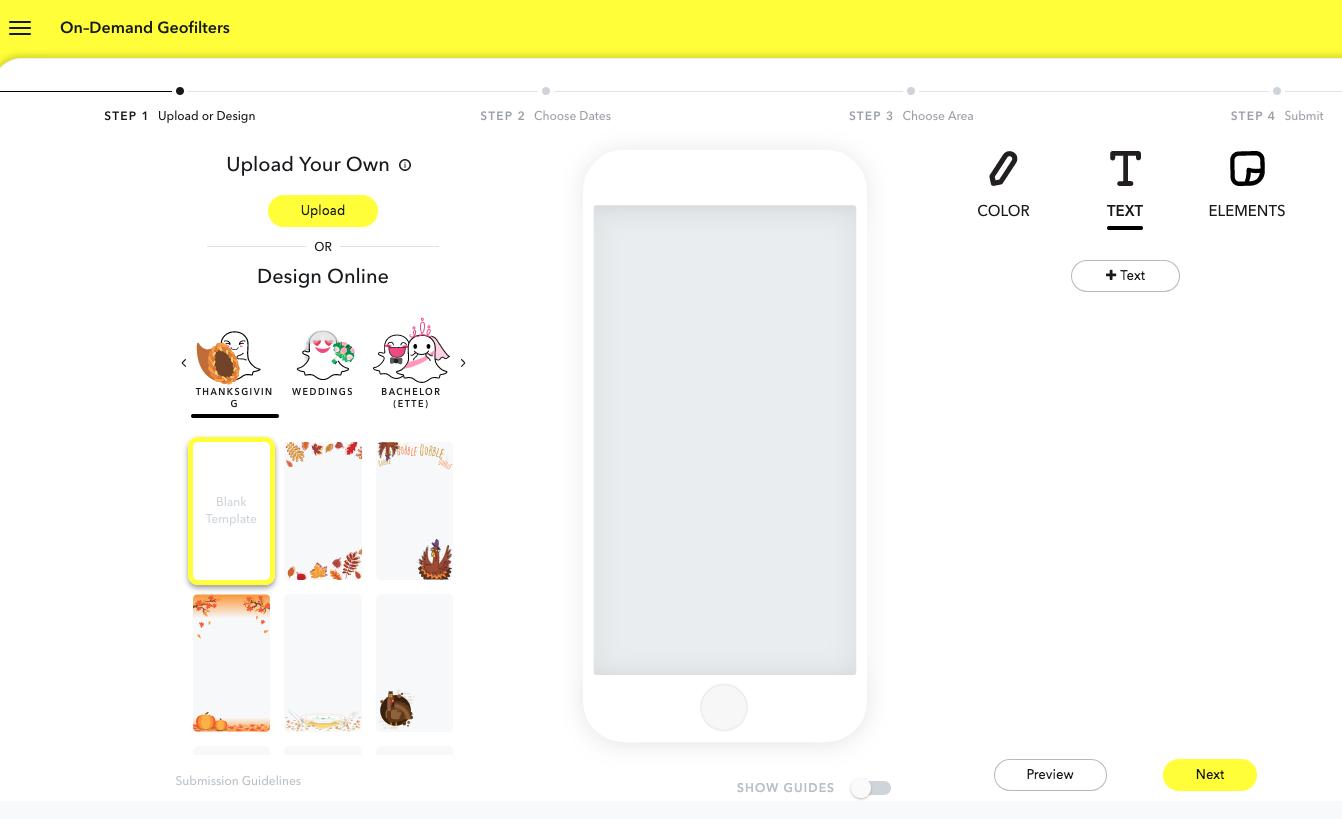 Snapchat Geofilter Creation Platform