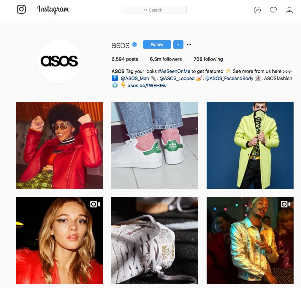 Asos Instagram