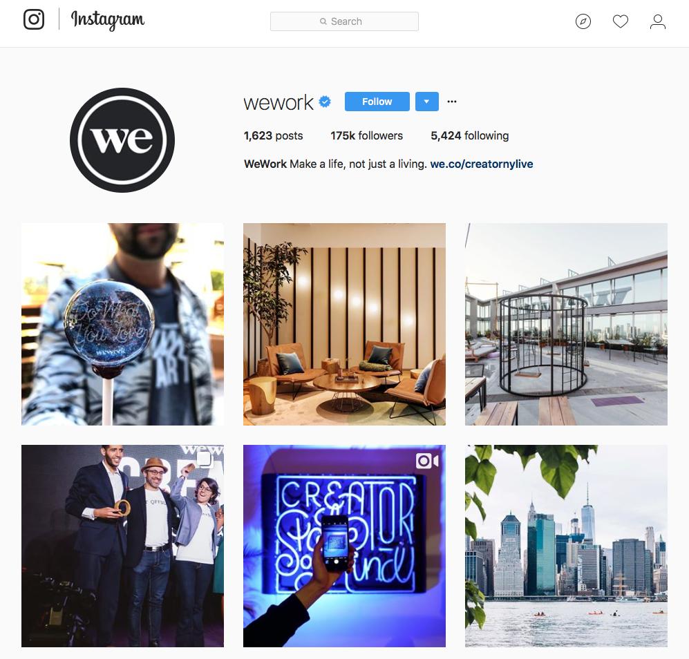 WeWork Instagram