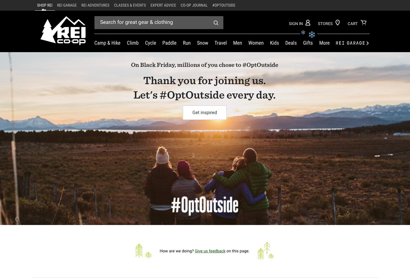 REI #OptOutside Campaign