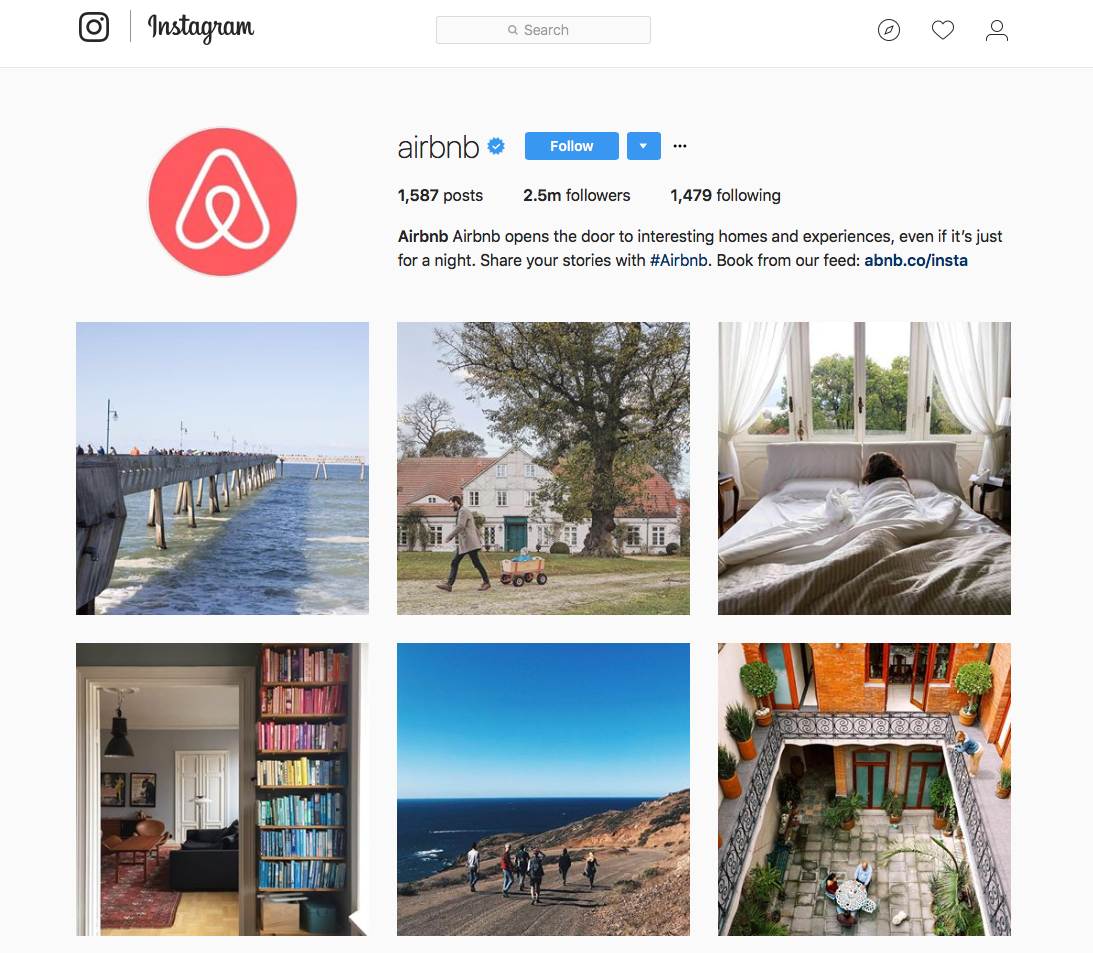 Air BnB Instagram