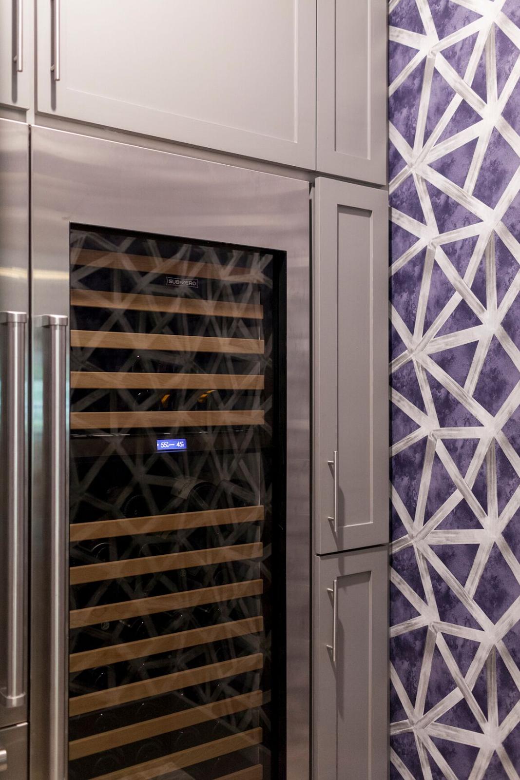 Luxury wine storage by Laura U Interior Design