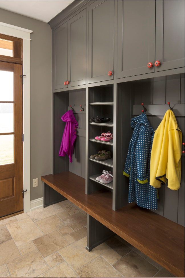 Farmhouse revival mudroom by Ron Brenner Architects