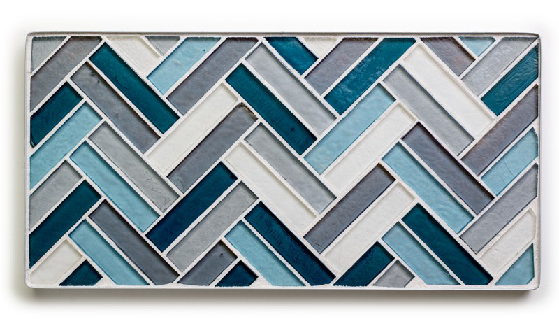 Geometric Dell'acqua mosaic tile from Ann Sacks - Laura U Interior Design