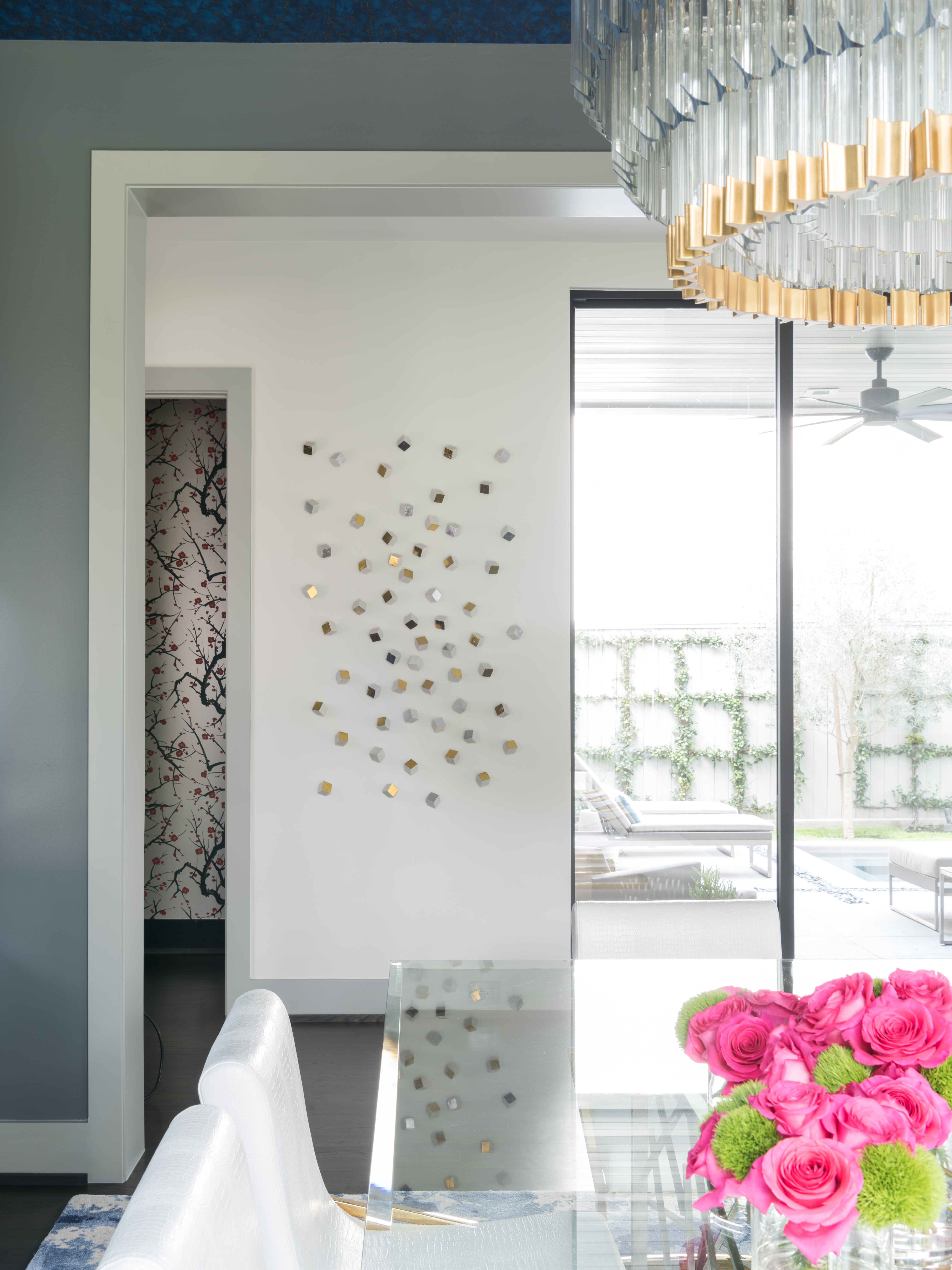 Metallic accents art objects by Gold Leaf Design Group - Laura U Interior Design