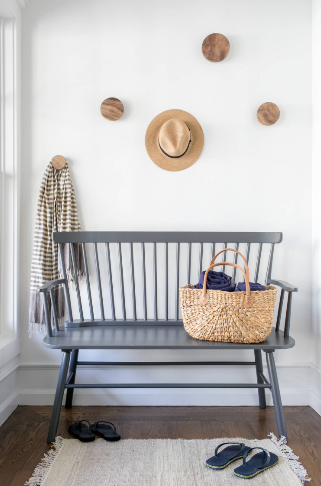 Simple foyer mudroom by Chango & Co.