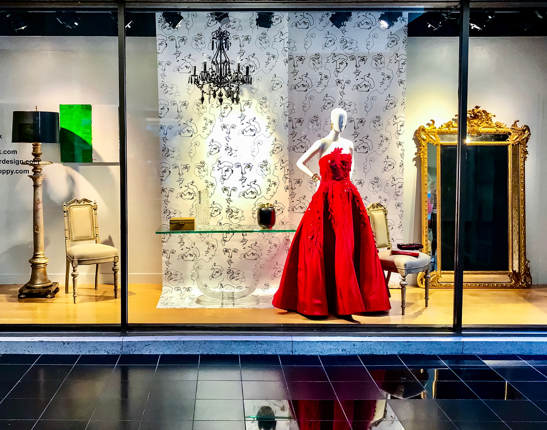 Neiman Marcus Texas Design Week window display by Laura U Interior Design