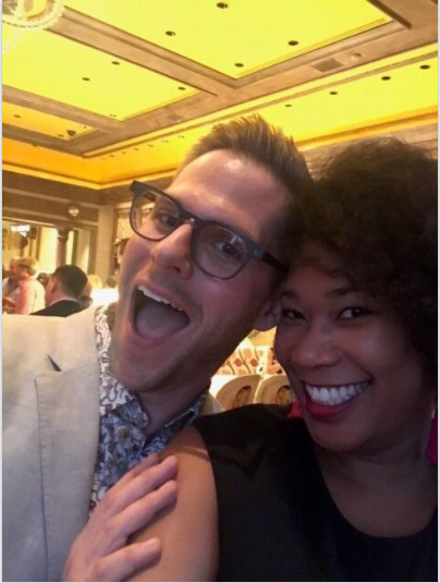 Look who Letecia ran into! The uber talented, Benjamin Johnston of Benjamin Johnston Designs!