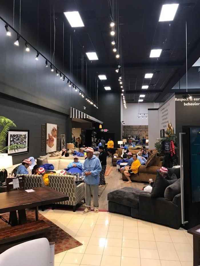 Houston's Gallery Furniture has opened its stores to victims of Hurricane Harvey. (Mattress Mack / Twitter)