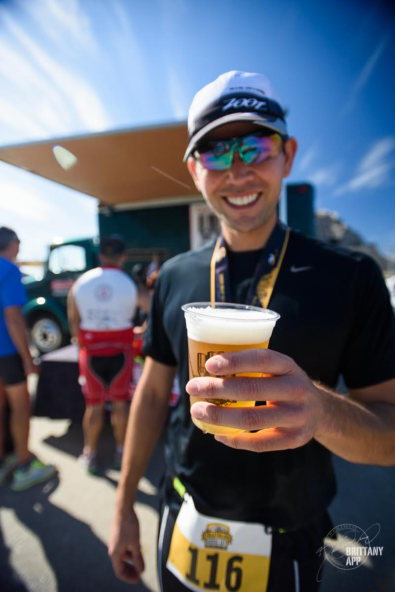 central coast brewing at the morro bay triathlon beer and racing