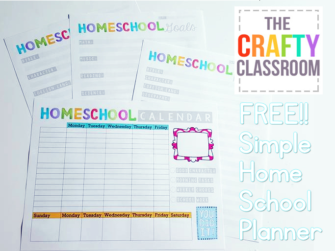 image relating to Printable Homeschool Planners titled planner Archives - The Cunning Clroom
