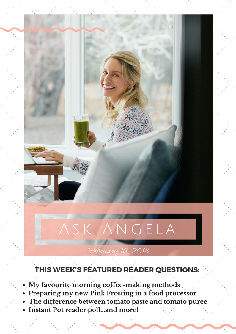 Ask Angela: My morning coffee recipes, Instant Pot reader poll, and more!