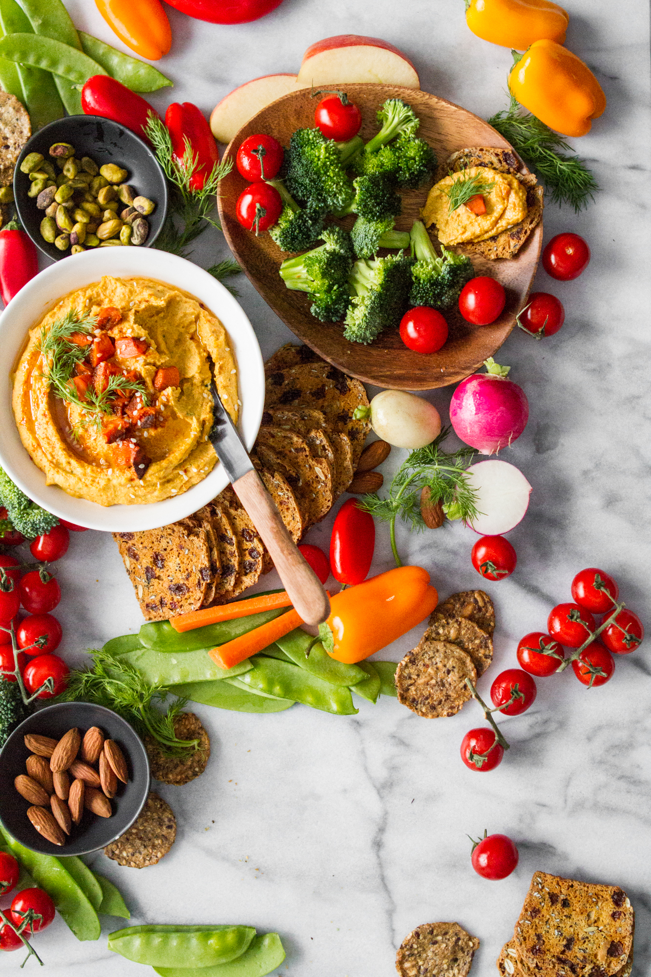 Roasted Carrot and Dill Hummus