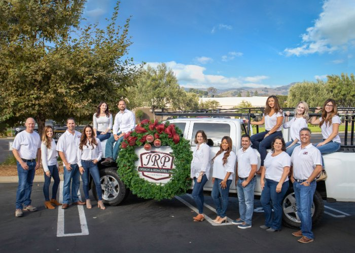 Happy Holidays 2019 JRP Team in front of truck