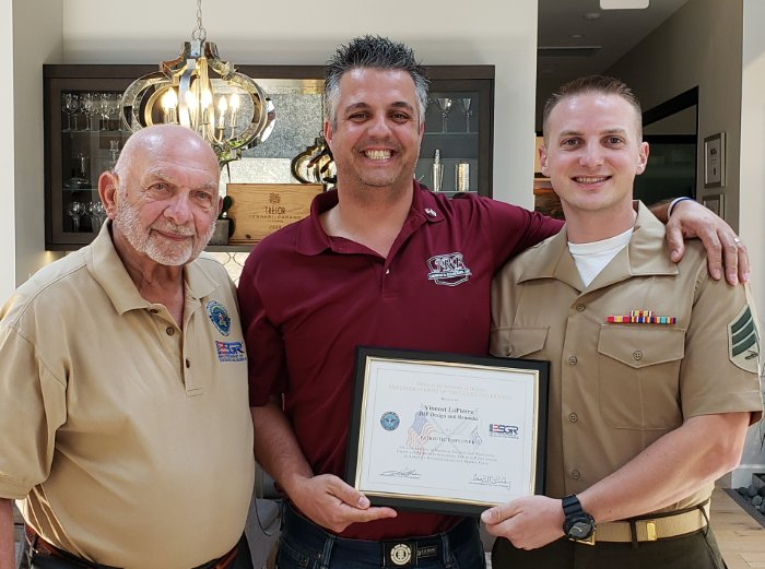 Vinny Honored by Department of Defense