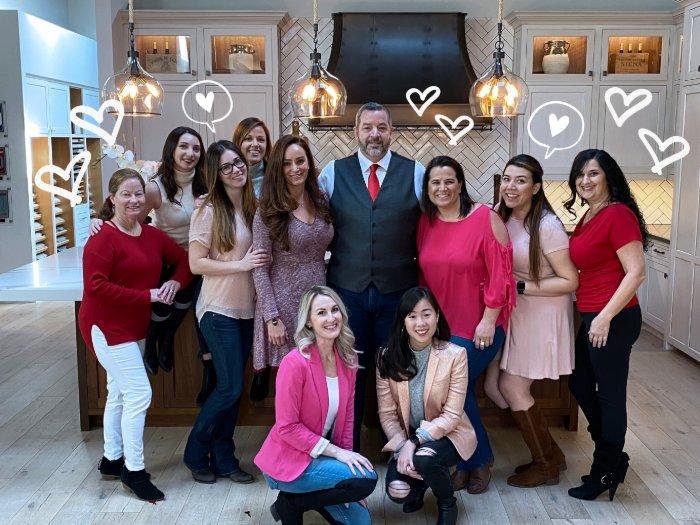 Ladies of JRP showing Brent love