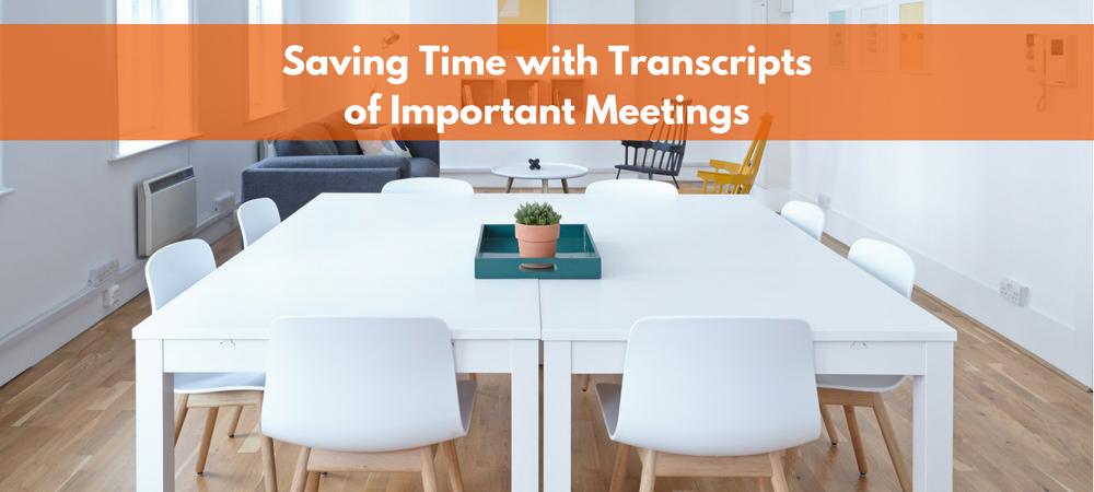 transcribing meetings