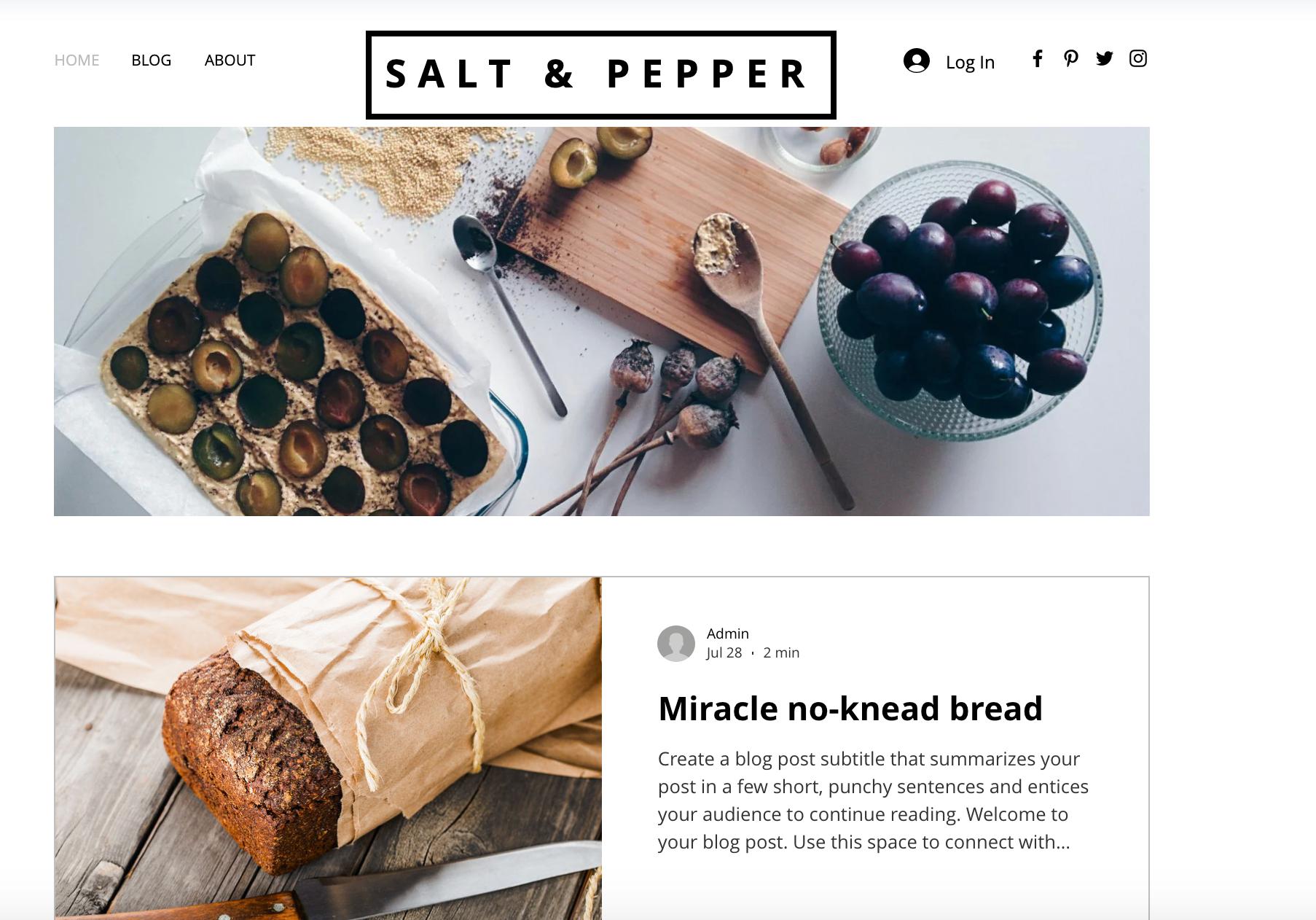 website design, website template, food