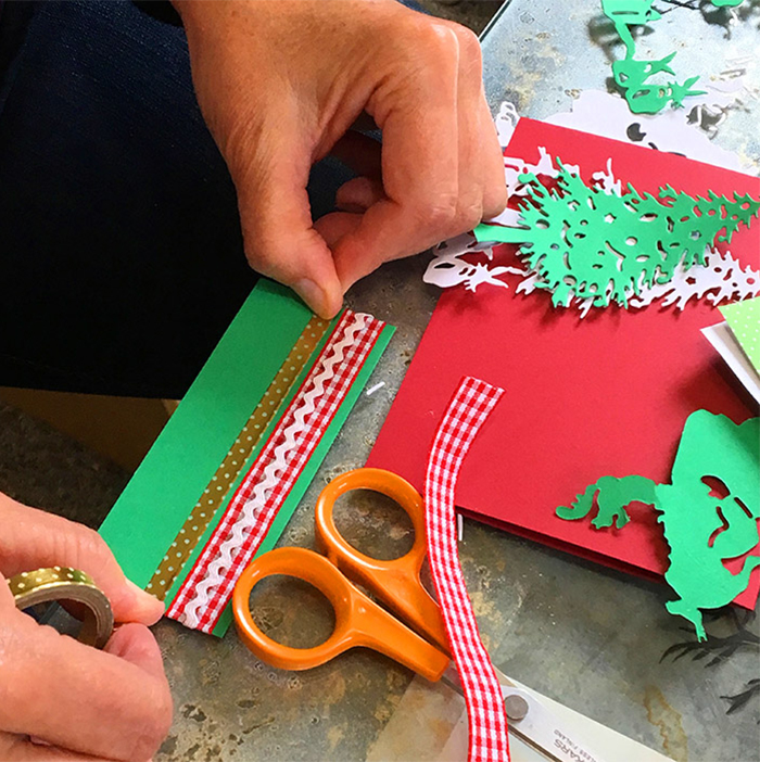 Santa Christmas Card Party with Sharyn Sowell - Step 2