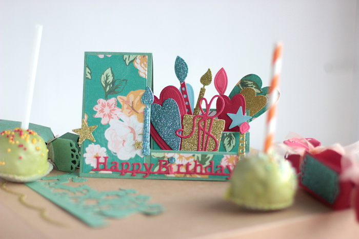 Creating a Sweet Birthday Party Ensemble by Elena Olinevich PopUp Card