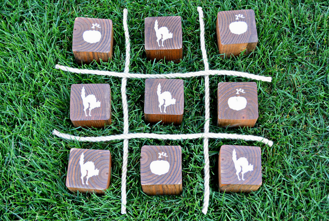 How to Create a Perfect DIY Wooden Halloween Tic Tac Toe Game by Miranda Webster Finished Image 3
