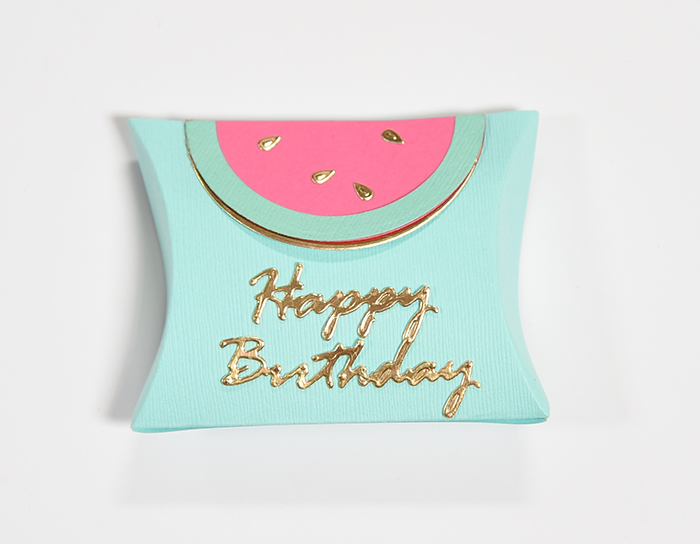 So Sweet Watermelon Birthday Party - Pillow Box