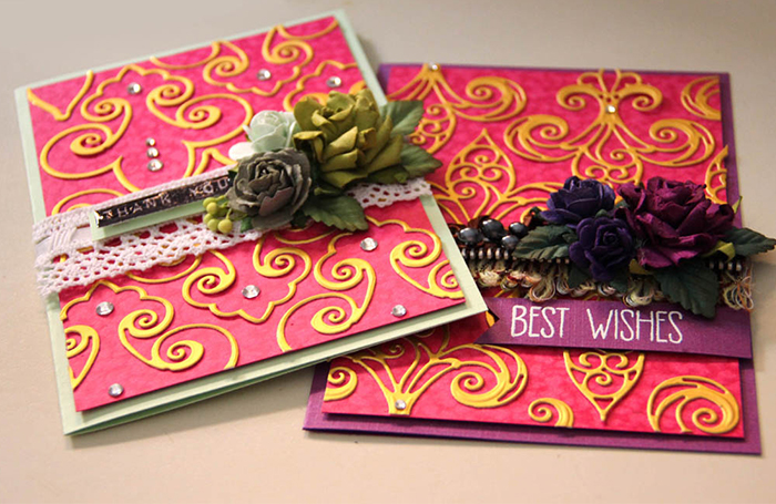 Fleur de France Cards with Nested Etched Dies by Yvonne Van de Grijp Set of 2 Cards Last Photo