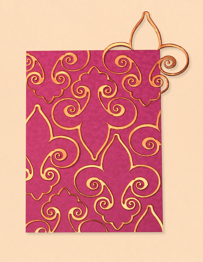 Fleur de France Cards with Nested Etched Dies by Yvonne Van de Grijp Step 3