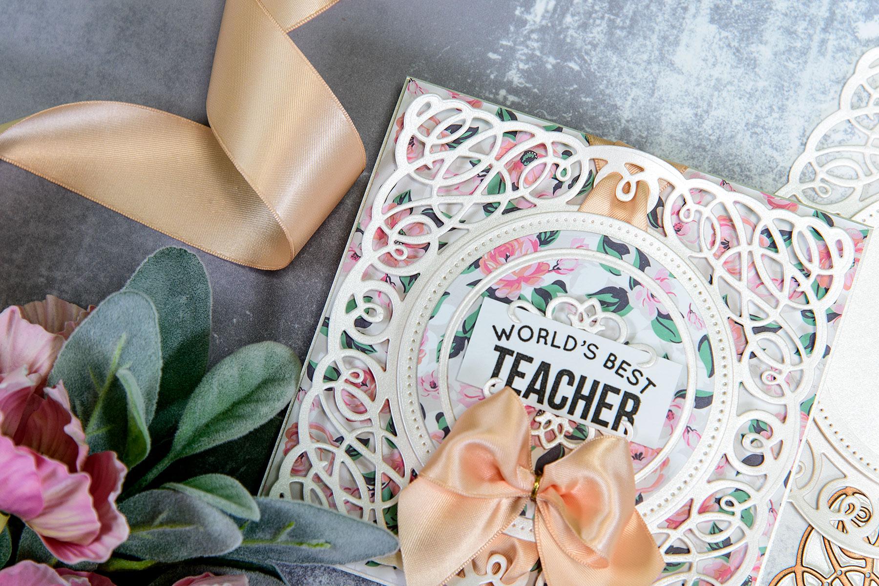 Layered Dimensional Die Cutting. Episode #2 - Teacher Card Pic 5