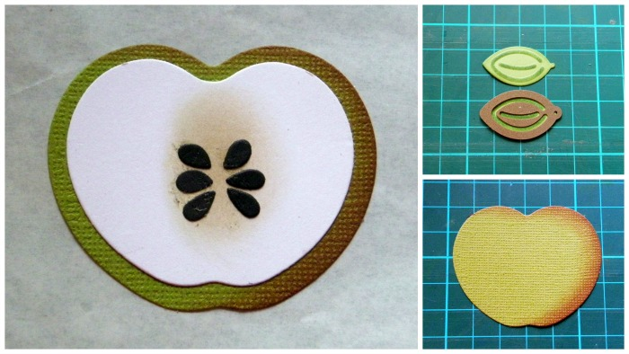 Back to School: An Apple for Teacher Card by Linda Lucas for Spellbinders Paper Arts Step1