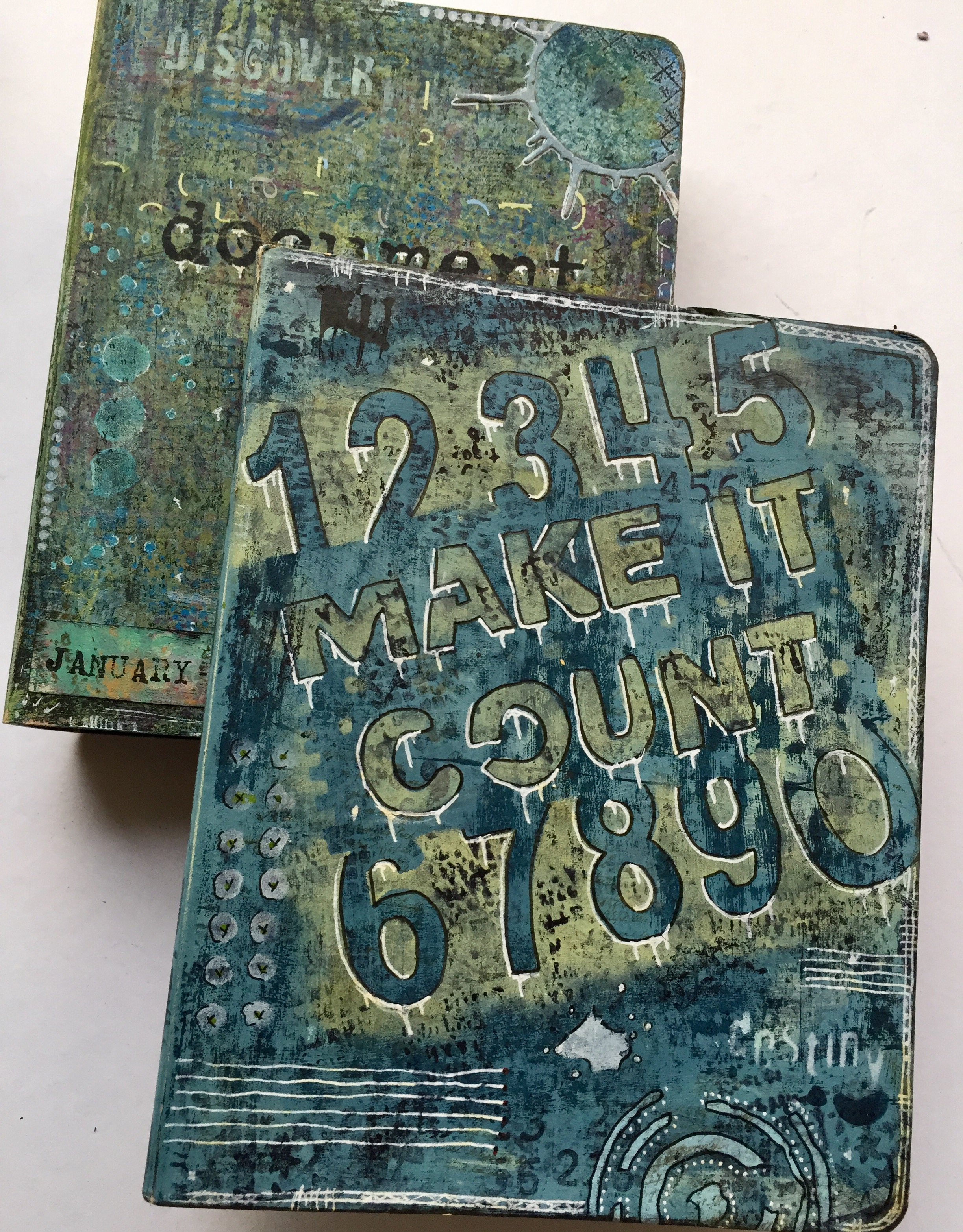 Documenting Life in Art: Mixed-Media Art Journal Planner Image 2