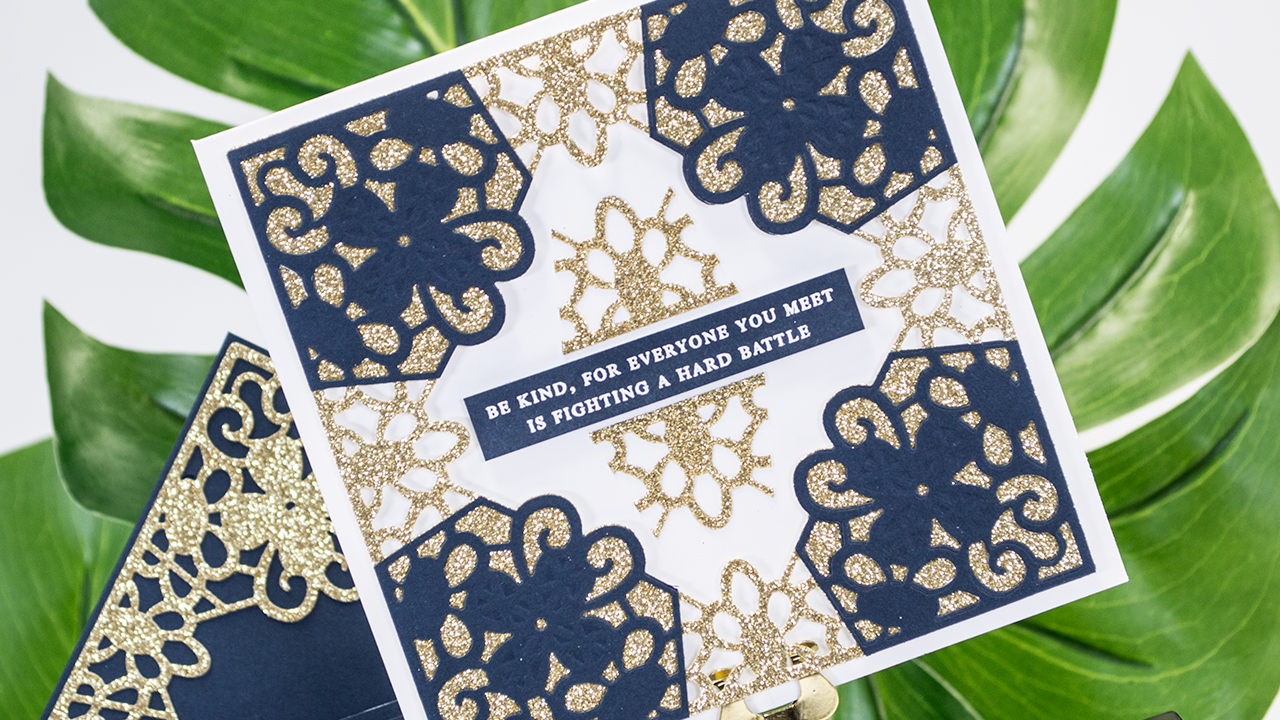 Classic Lace September Large Die of the Month | Be Kind Card