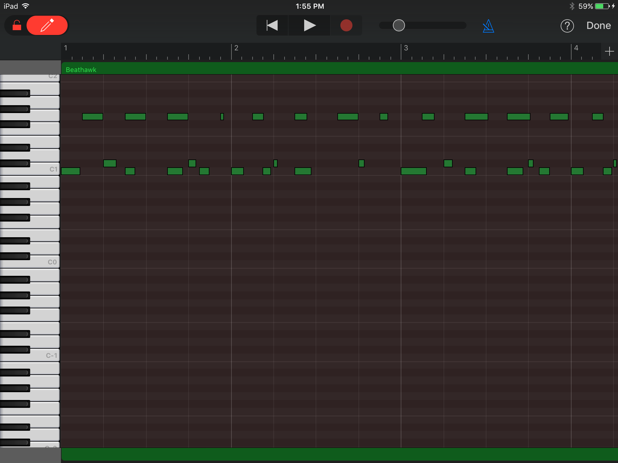 UVI BeatHawk in GarageBand