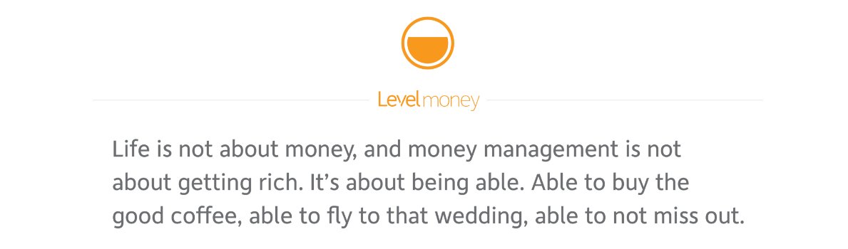 Level Money, a money management app