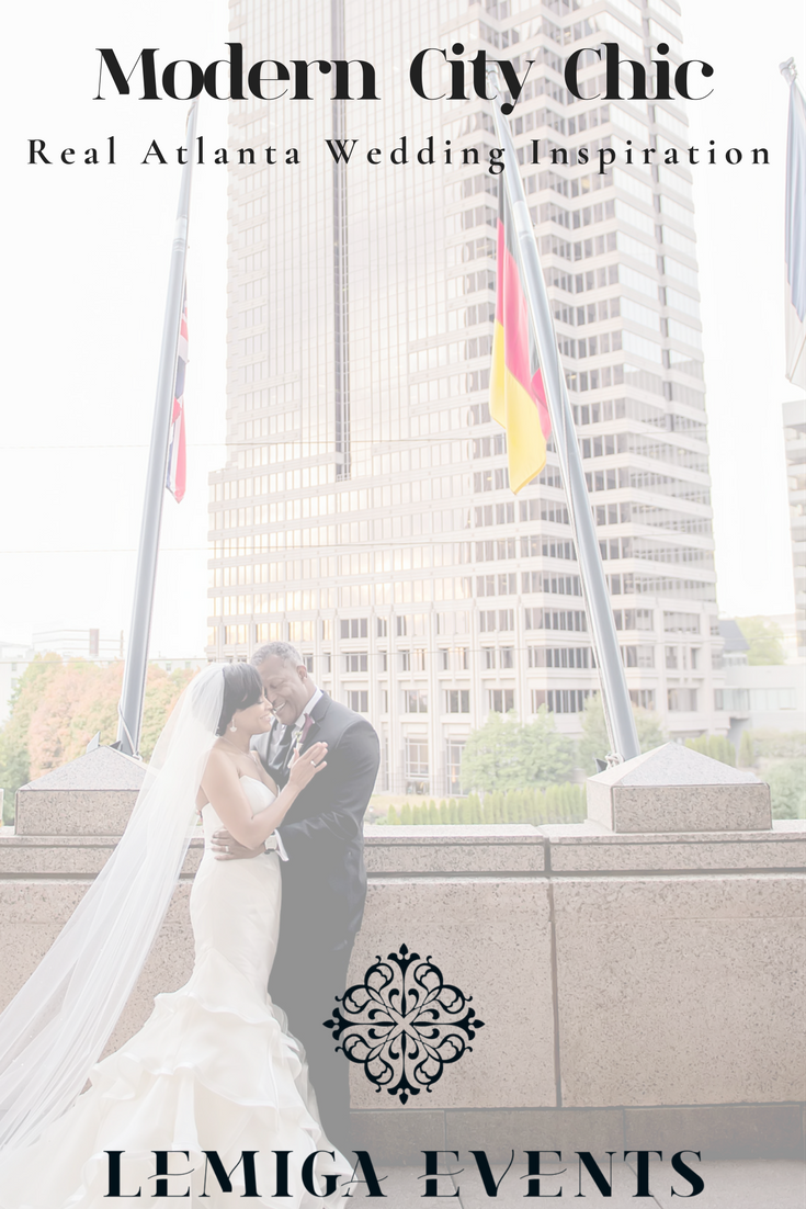 Modern City Chic: Real Atlanta Wedding Inspiration