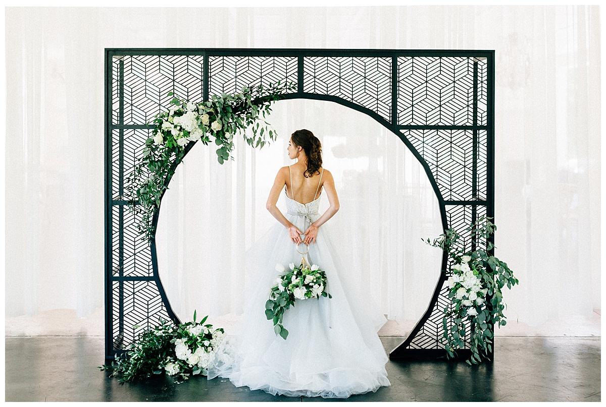 A Modern White Wedding Ceremony