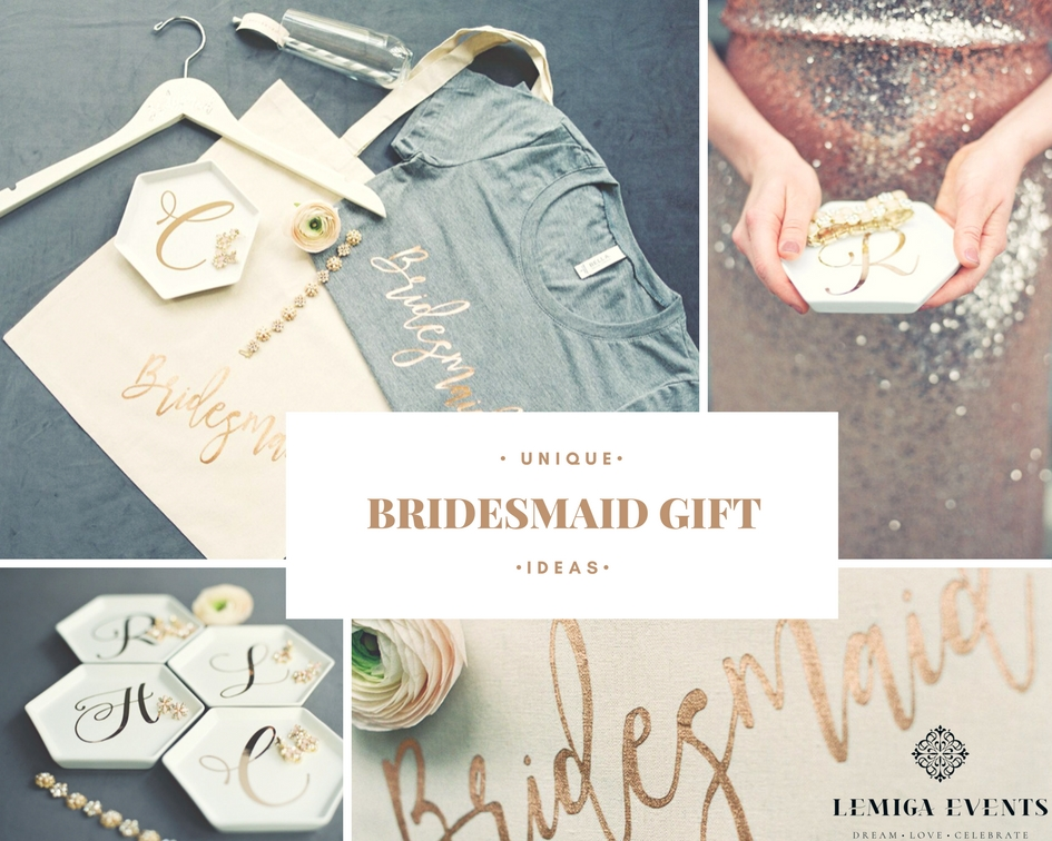 Thoughtful creative bridesmaidsu0027 gifts allow a bride to show her appreciation for all the time and attention her attendants have given to the wedding.  sc 1 st  Lemiga Events & Unique and Fun Bridesmaid Gift Ideas | Lemiga Events