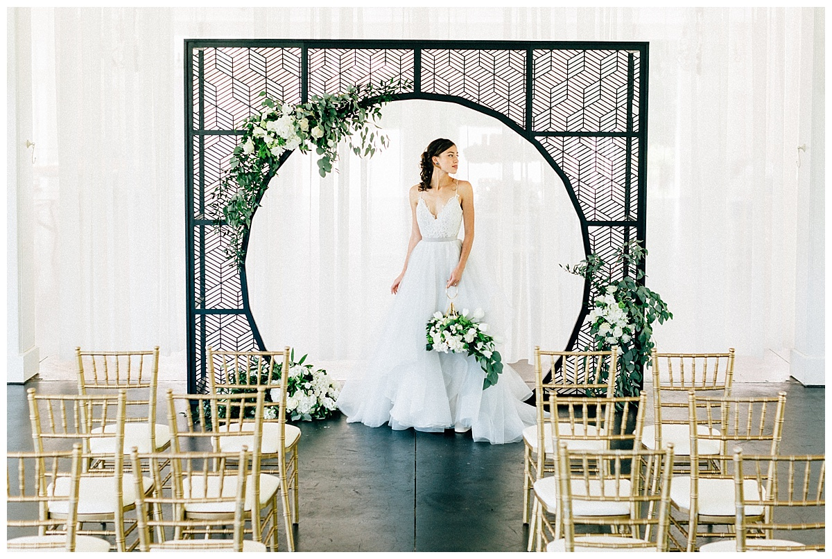 Sophisticated Contemporary Wedding Ceremony In: Modern Black And White Wedding Ceremony Inspiration